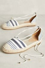 NWB Anthropologie Jasper & Jeera blue/cream espadrilles sz 7/7.5