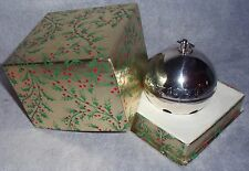 MIB 1973 Wallace 3rd Annual Silver Plate Sleigh Bell Xmas Ornament Decoration