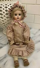 """Vintage RE Nippon Doll Bisque Eyes Close Has Teeth 14"""" tall Antique"""