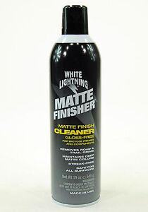 White Lightning Bicycle Matte Finisher Finish Cleaner/Protectant, 19oz