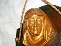 VINTAGE ARTILUX  MADONNA VIRGIN MARY WALL PLAQUE RELIGIOUS ICON GILT METAL WOOD