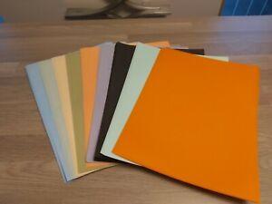 A4  VISION 90GM RIBBED TRANSLUCENT PAPER  6 X 10 SHEETS  + 10 BLACK ORANGE GREEN