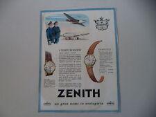 advertising Pubblicità 1955 OROLOGI ZENITH MOD. 12029/12046 CALIBRO 120