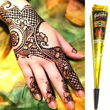 Waterproof Paint Natural Indian Tattoo Henna Paste For Body Drawing Black Cream