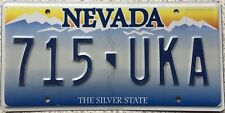 GENUINE News Style Nevada The Silver State Pressed License Number Plate 715 UKA