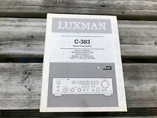 LUXMAN C-383, LUXMAN C383, LUXMAN, LUXMAN GEBRAUCHSANWEISUNG