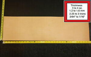 """32"""" x 9"""" Vegetable Tanned Cowhide 3 to 4 oz. Tooling Leather Piece, 1st. QLTY"""