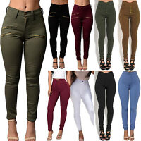 Women High Waisted Skinny Jeans Pants Jeggings Casual Stretchy Slim Pencil Pants