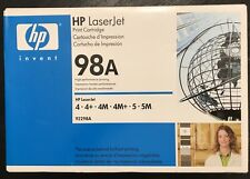 Genuine HP 98A (92298A) LaserJet Black Toner Cartridge  New/Unopened/In-box