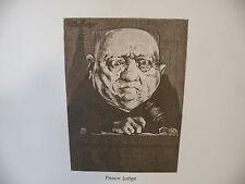 "Art print Charles Bragg artist black Lithograph ""Peace Judge"" Duotone Signed"