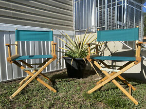 Vintage Telescope Foldable Directors Chairs Patio Furniture or Outdoor
