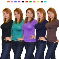 breite Träger T-Shirt Strasssteinchen ärmellos viele Farben Viskose mit Elasten