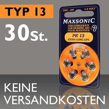 30 St. 5 Blister Maxsonic Batterie Apparecchi Acustici Batteria PR 13