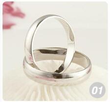 Wholesale 10pcs A+ 925 Silver Lover's Plain Rings 8-11