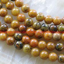 8mm Yellow Azurite Chrysocolla Round Loose beads 15''