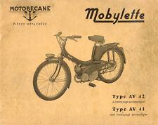 Mobylette Motobecane Moped AV41-AV42 Spare Parts Manual in French on CD
