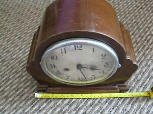 vintage art deco mantel clock. made in england