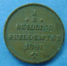 Noorwegen - Norway - 1/2 skilling 1841 - no star. KM# 305.1. Zeldzaam/ Rare!
