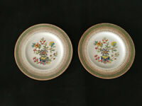 2 Rare Vtg 1930 Royal Worcester Z625/1 Bread & Butter/Dessert Plates Chinoiserie