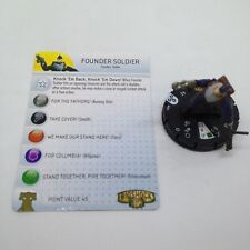 Heroclix Bioshock Infinite set Founder Soldier #001 Gravity Feed figure w/card!