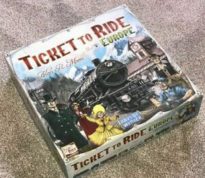Board Game Ticket To Ride EUROPE by Days Of Wonder ( Brand New ) SEALED BOX