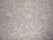 7Y new Peter Fasano hand printed cotton fabric Sandhurst in Crema damask