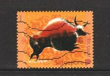 SINGAPORE 2009 ZODIAC YEAR OF OX SELF ADHESIVE PANE COMP. SET OF 1 STAMP IN USED
