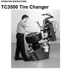 HUNTER TC3500 TIRE CHANGER OPERATION INSTRUCTION MANUAL (TC3250) ON CDROM