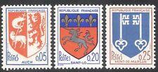 France 1966 French Towns Coats-of-Arms/Ship/Lamb/Lion/Unicorn/Keys 3v set n43027