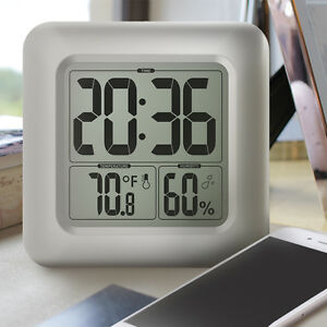 Baldr Shower Clock Bathroom Thermometer Hygrometer Temperature and Humidity C/F