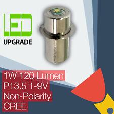 LED Conversion Upgrade bulb Flashlight Torch P13.5 Universal Non-Polarity CREE