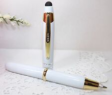 3 in 1 Lexi Lighted Tip White Stylus Pen Flashlight by Adler - HIGH QUALITY