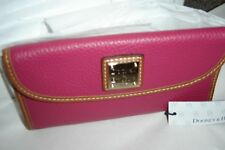 """DOONEY & BOURKE """"STRAWBERRY PINK"""" LEATHER WALLET-NEW WITH TAGS!!"""