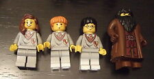 LEGO MINIFIGURES  HARRY POTTER RON WEASLEY HERMIONE GRANGER( GRYFFINDOR) HAGRID