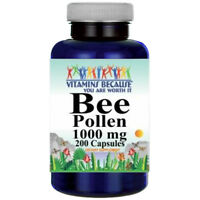 Bee Pollen 1000mg 200 Caps by Vitamins Because