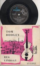 "REG LINDSAY   Rare 1960 Australian Only 7"" OOP Country Folk P/C EP ""Tom Dooley"""