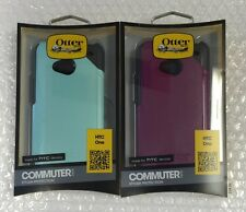 SALE !!! SALE !!!!  LOT OF 2 Otterbox Commuter Cases for HTC One Aqua and Purple