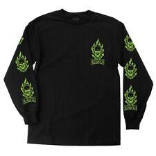 Creature Bonehead Long Sleeve Skateboard Shirt Black Xxl