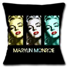 Marilyn Monroe Funda de Cojín 40.6cm 40cm Americano Película Actriz Negro 3