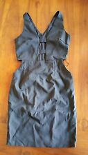 Women's Black Plunge cut out design dress sz10 BNWOT free post E24