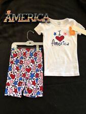 Gymboree Gymmies Pajamas I 💕 America 2pc~pajamas~kids~size 6 summer