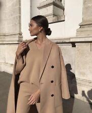 Zara Camel Wool Blend Oversized Coat Size S