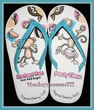 Original Bobby Jack Monkey Flip Flops Sandal Shoes Girls size SMALL 12/13 NWT!