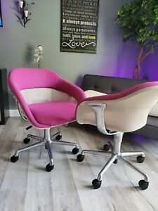Coalesse SW-1 low back chairs, pink/magenta.