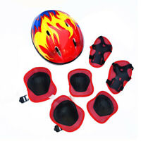 7pcs Boys & Girls Kids Skate Cycling Bike Safety Helmet Knee Elbow Pad Cartoon