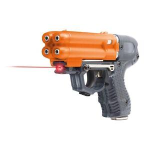 PIEXON Pfefferspraypistole JPX6 mit Laser und 4 Schuss Speedloader Tierabwehr BW
