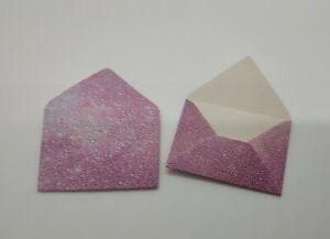 Mini Pink Fairy Dust Glitter Envelopes - (2.9 x 4cm)