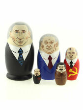 Matryoshka Russian Leaders 5 figures 4.13 inches :Putin Yeltsin Gorbachev Stalin