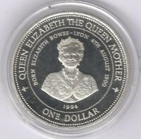 1994 Barbados Silver Proof One Dollar | Lady Of The Century | Penies2Pounds