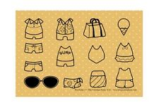 WARDROBE 2-The Greeting Farm Rubber Stamp-Stamping Craft-Dress Up Anya/Ian Doll